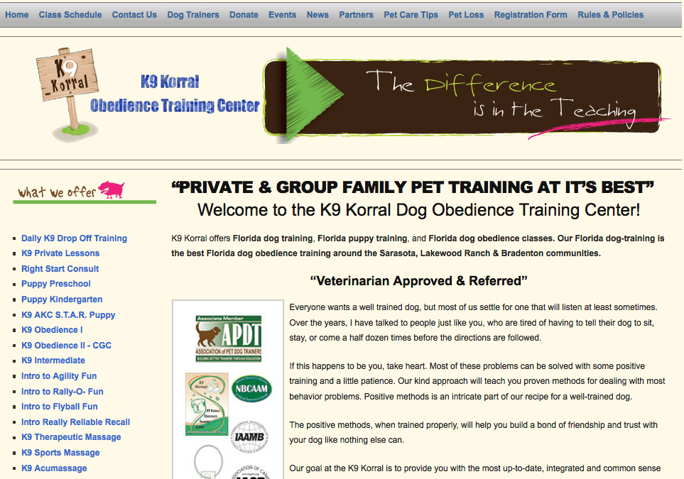 Florida Dog Training